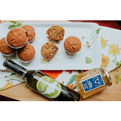 Olive Oil and Honey Zucchini Muffins