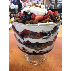 Mixed Berry Trifle with Molasses Ginger Cookies
