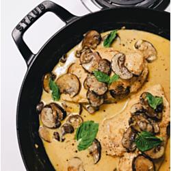 Sautéed Breasts of Chicken with Garnish of Mushrooms
