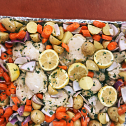 Suzie's Sheet Pan Greek Lemon Chicken