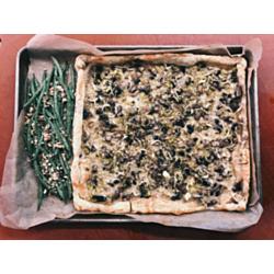 Mushroom & Gruyère Tart with Hazelnut Haricots Verts