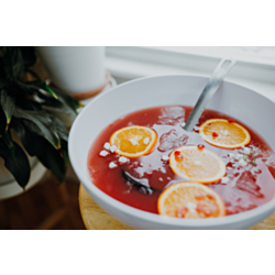 Spiced Cranberry Orange Prosecco Punch