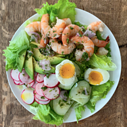 Poached Shrimp Salad