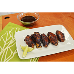 Spicy Blueberry Lime Barbecue Glazed Hot Wings