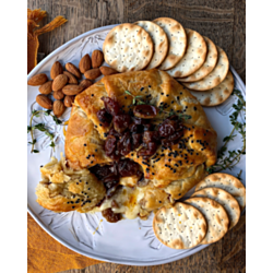 Baked Brie with Balsamic Roasted Grapes