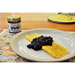 French Crepes with Blueberry Compote