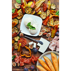 Marinated Grilled Vegetables Cheese Board Recipe