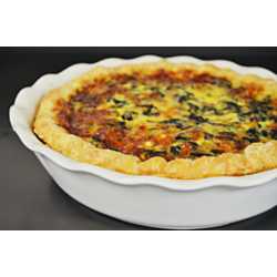 Quiche with Mushroom and Sage Olive Oil