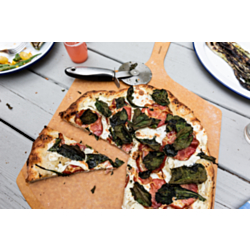 Grilled Pizza with Ricotta, Coppa & Baby Kale