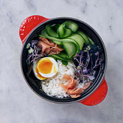 Rice Bowl with Jammy Egg and Ponzu