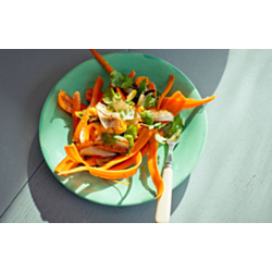 Shaved Carrot Salad with Roasted Shallots
