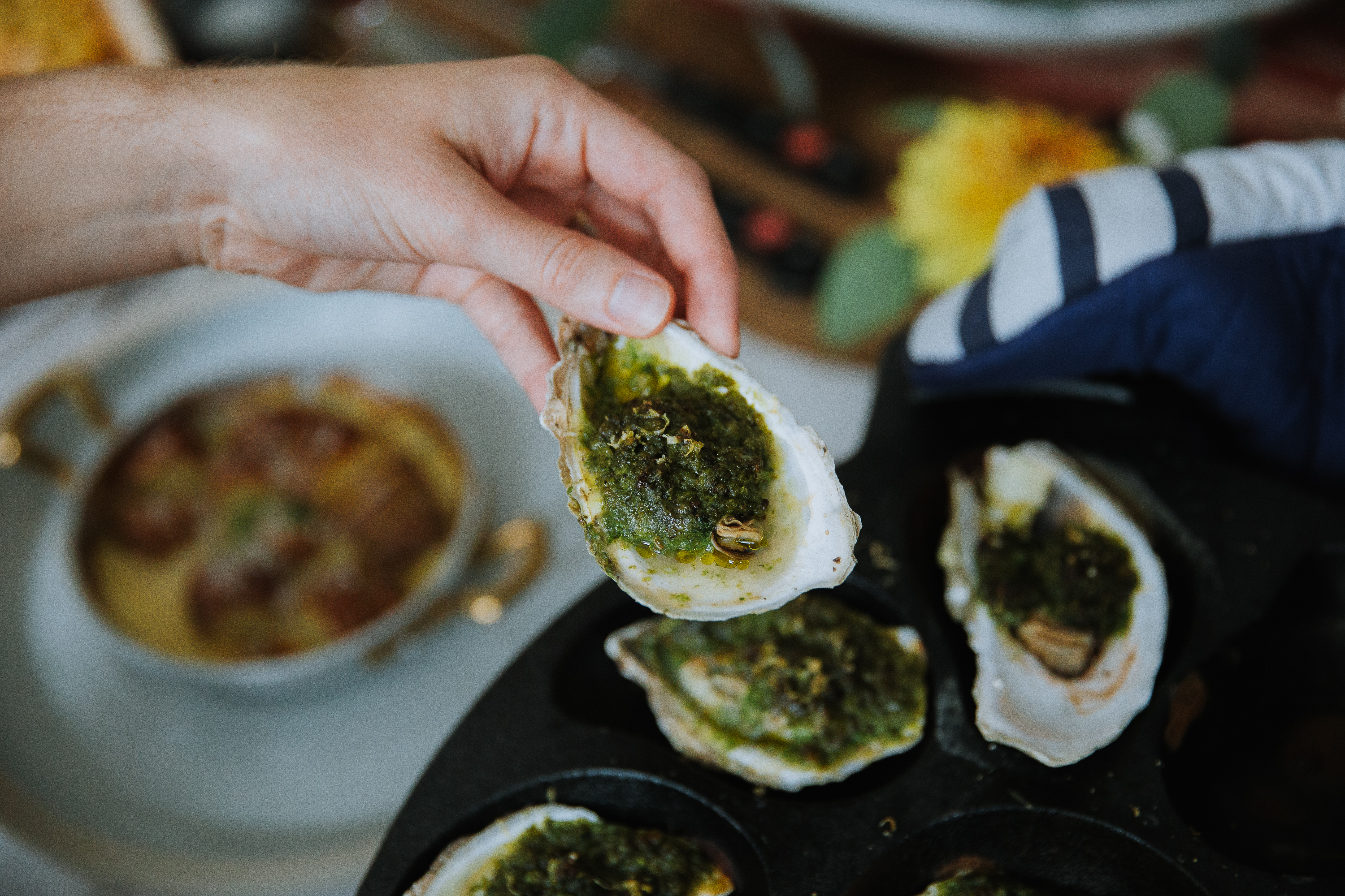 Grilled Oysters with Compound Butter | LeRoux Kitchen
