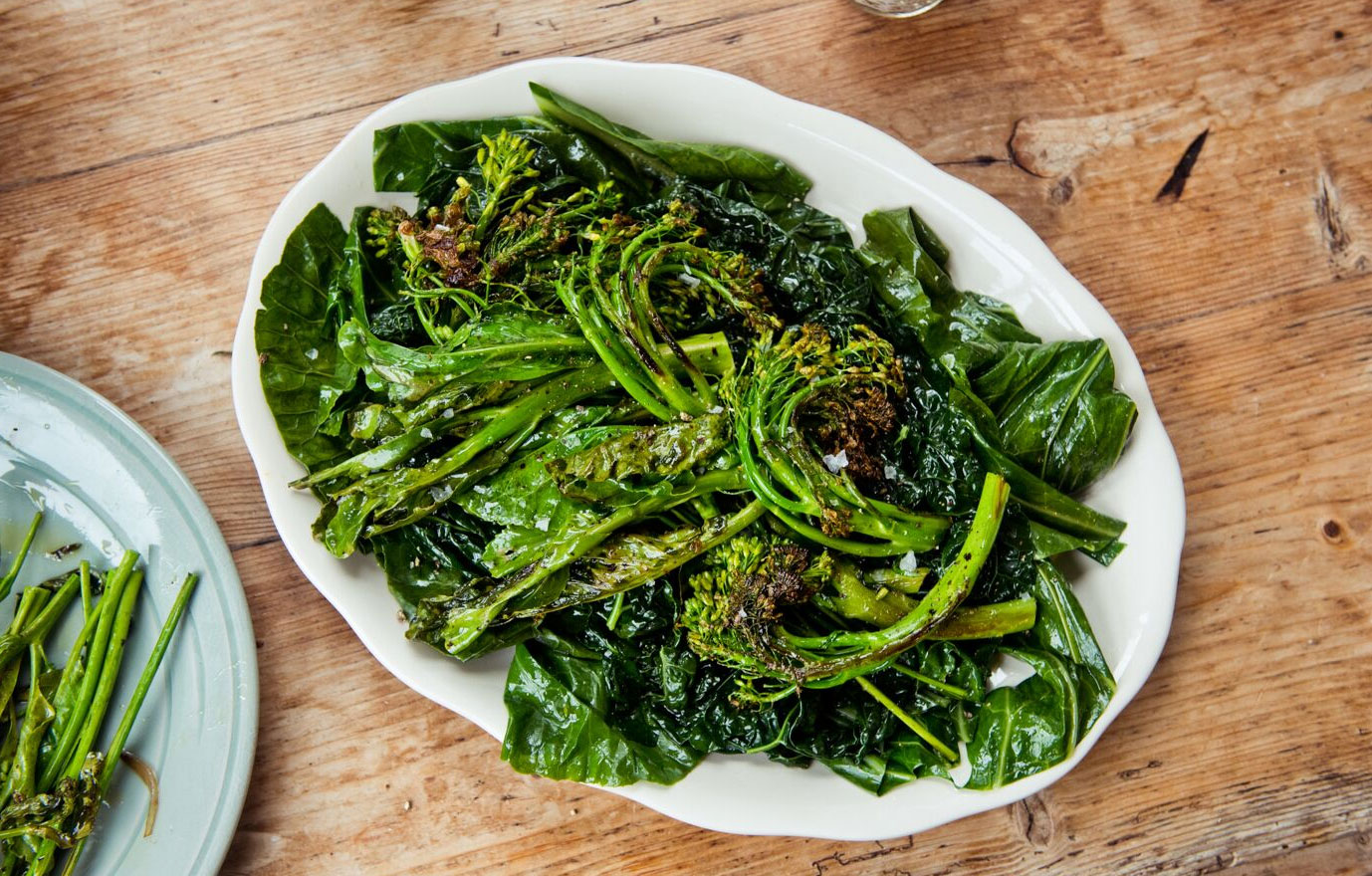 Sautéed Broccolini and Collard Greens