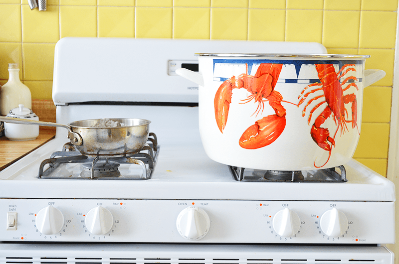 Lobster Boil with Golden Rabbit Enamelware