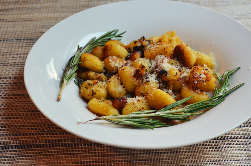 Sweet Potato Gnocchi with Rosemary Parmesan Cream Sauce