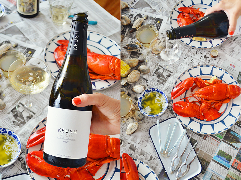 wine pairing at lobster boil